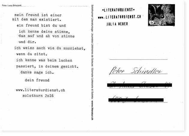 Postkarte Solothurner Literaturtage